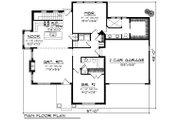 Ranch Style House Plan - 2 Beds 2 Baths 1518 Sq/Ft Plan #70-1189 Floor Plan - Main Floor Plan