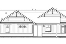 Craftsman Exterior - Rear Elevation Plan #895-109