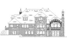 House Plan Design - European Exterior - Rear Elevation Plan #5-421