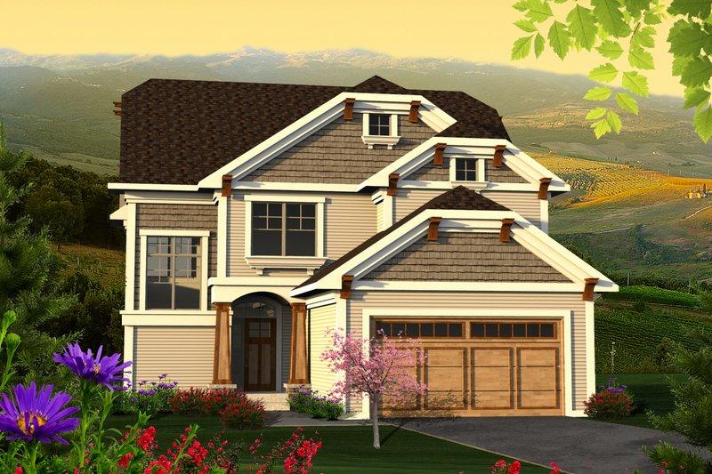 Craftsman Exterior - Front Elevation Plan #70-1211