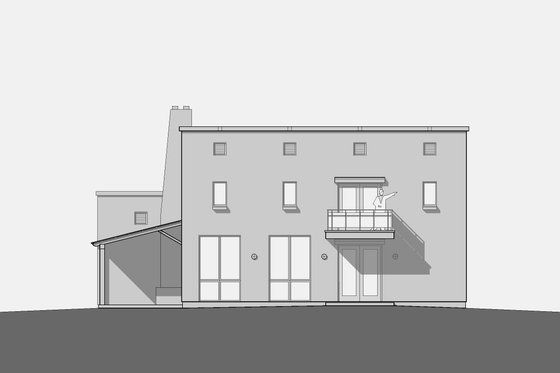 Modern Exterior - Other Elevation Plan #531-5