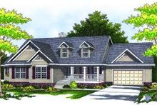 Dream House Plan - Traditional Exterior - Front Elevation Plan #70-787