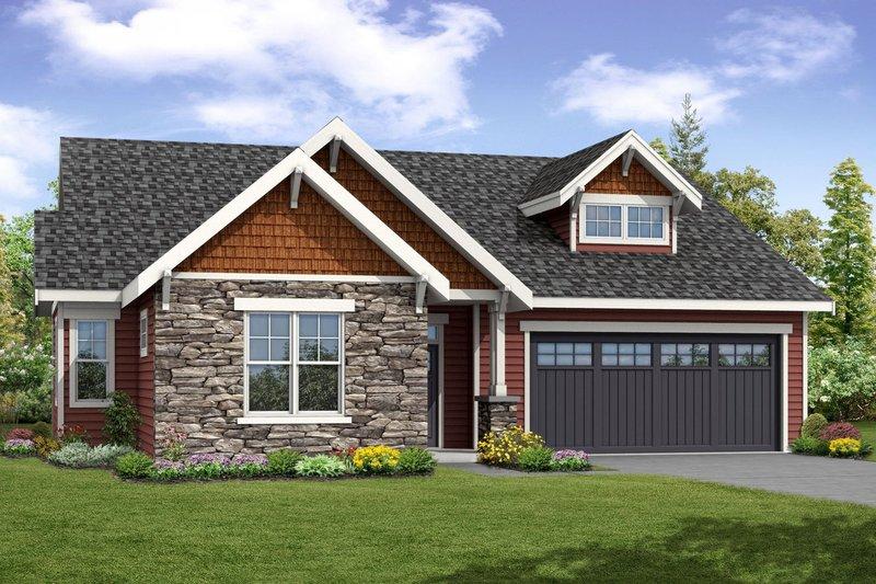 Dream House Plan - Craftsman Exterior - Front Elevation Plan #124-1056