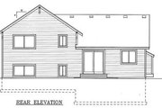 Craftsman Style House Plan - 3 Beds 2 Baths 1224 Sq/Ft Plan #101-301 Exterior - Rear Elevation