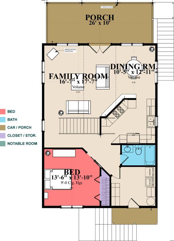 Cottage Floor Plan - Main Floor Plan #63-354