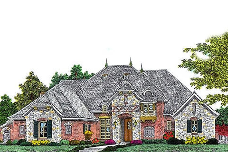 European Exterior - Front Elevation Plan #310-961 - Houseplans.com