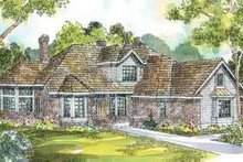 European Exterior - Front Elevation Plan #124-175