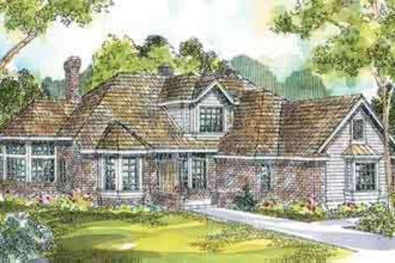 Architectural House Design - European Exterior - Front Elevation Plan #124-175