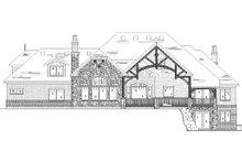 House Plan Design - European Exterior - Rear Elevation Plan #5-439
