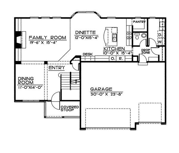 Traditional Floor Plan - Main Floor Plan Plan #20-2054
