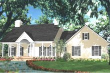 Dream House Plan - Southern Exterior - Front Elevation Plan #406-280