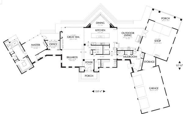 Modern Floor Plan - Main Floor Plan Plan #48-468