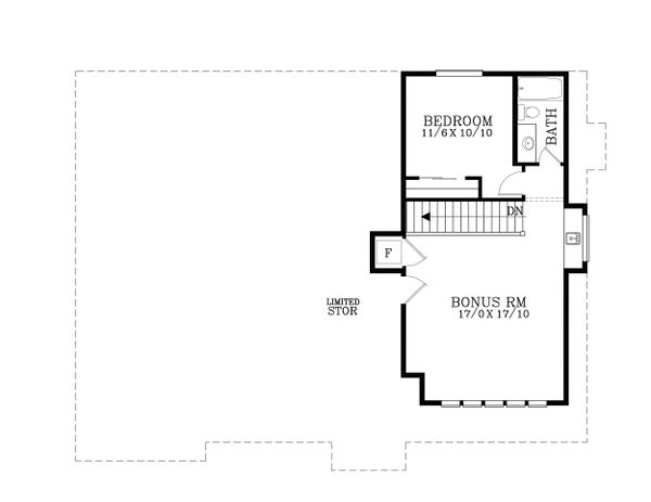 European Floor Plan - Upper Floor Plan Plan #53-622