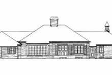 House Blueprint - Traditional Exterior - Rear Elevation Plan #72-348