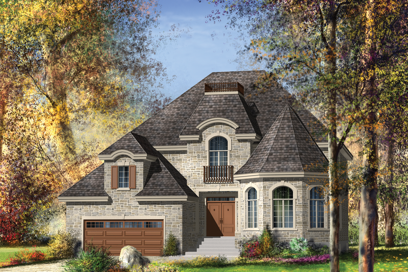 European Style House Plan - 4 Beds 2 Baths 3385 Sq/Ft Plan #25-4692 Exterior - Front Elevation