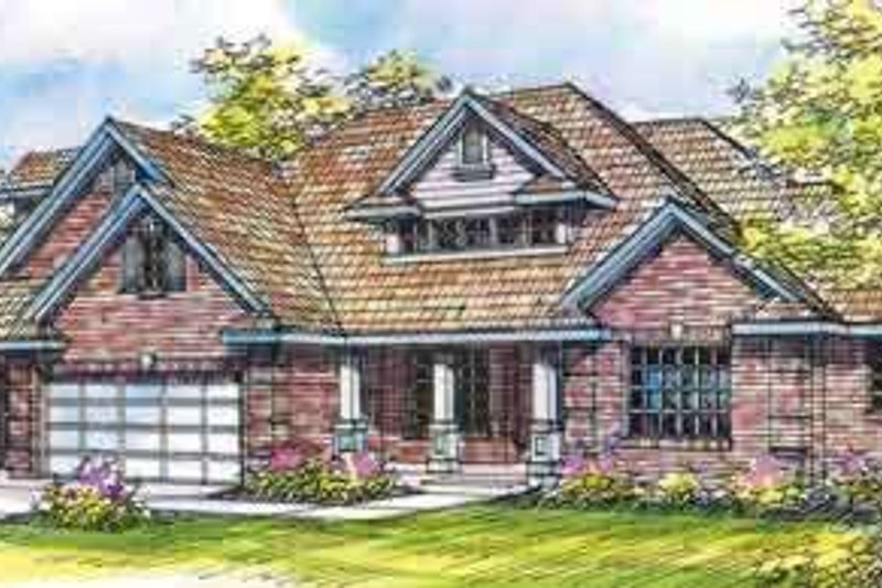 Craftsman Style House Plan - 4 Beds 3 Baths 2485 Sq/Ft Plan #124-418 Exterior - Front Elevation