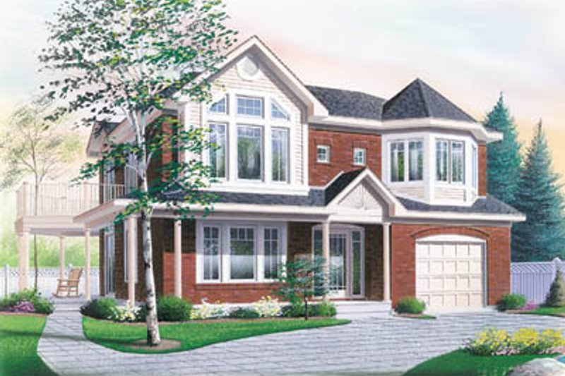 Traditional Exterior - Front Elevation Plan #23-2151 - Houseplans.com
