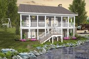 Cottage Style House Plan - 3 Beds 2.5 Baths 1666 Sq/Ft Plan #56-627 Exterior - Rear Elevation