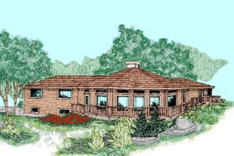 Dream House Plan - Modern Exterior - Front Elevation Plan #60-429
