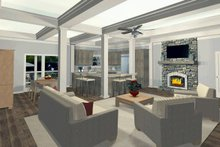 Dream House Plan - Family Room/Dining/Kitchen Alt Color