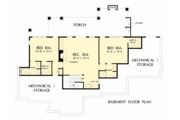 European Style House Plan - 4 Beds 4 Baths 3478 Sq/Ft Plan #929-1037 Floor Plan - Lower Floor Plan