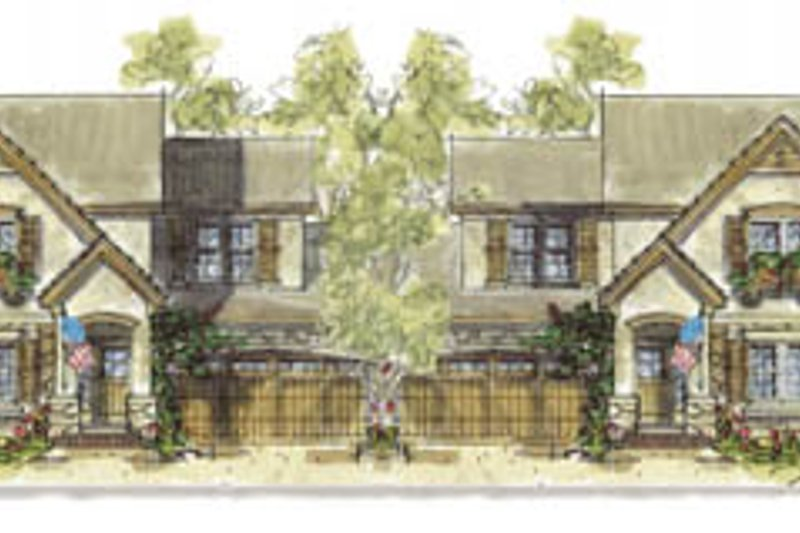 Cottage Exterior - Front Elevation Plan #20-1263