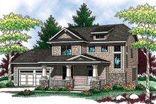 Dream House Plan - Craftsman Exterior - Front Elevation Plan #70-907