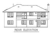 Mediterranean Style House Plan - 2 Beds 2 Baths 1197 Sq/Ft Plan #18-124 Exterior - Rear Elevation