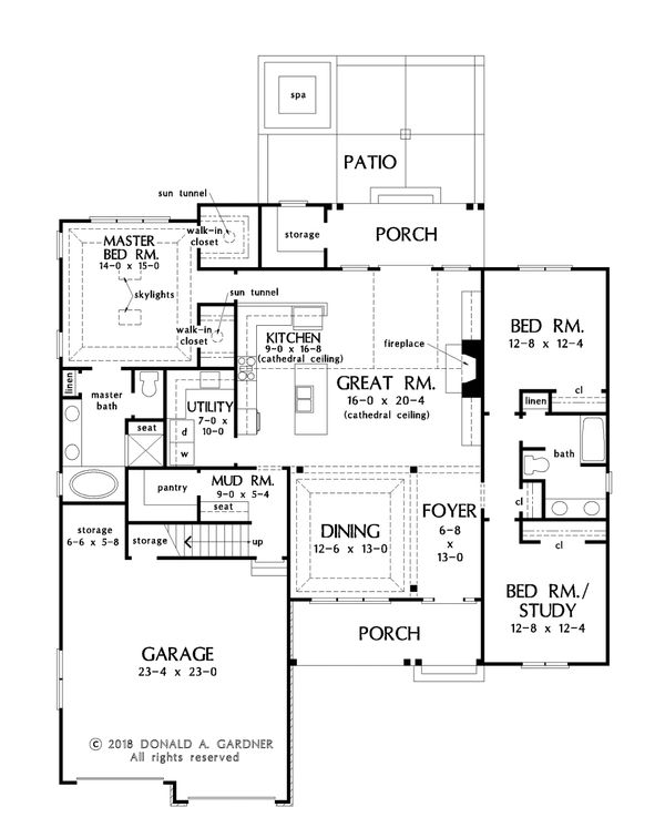 Country Floor Plan - Main Floor Plan Plan #929-1068