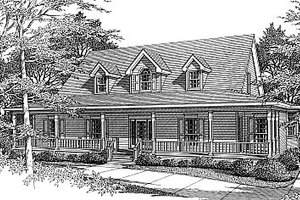 Country Exterior - Front Elevation Plan #14-201