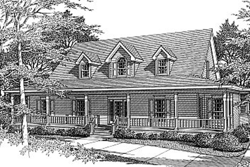 Country Exterior - Front Elevation Plan #14-201 - Houseplans.com