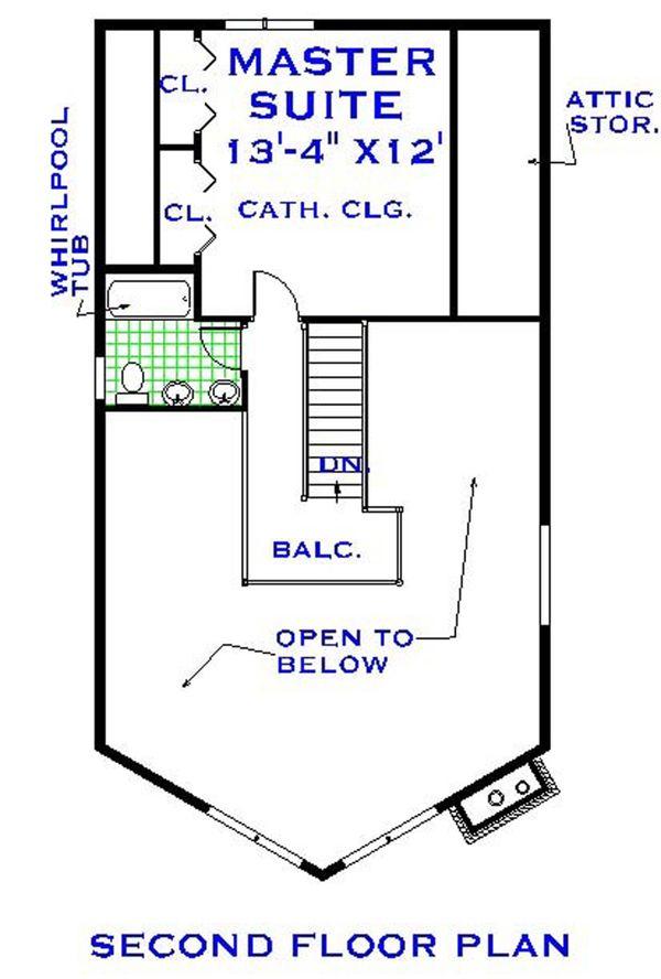 Home Plan - European Floor Plan - Upper Floor Plan #3-339