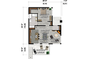 Cottage Style House Plan - 3 Beds 2 Baths 1661 Sq/Ft Plan #25-4930
