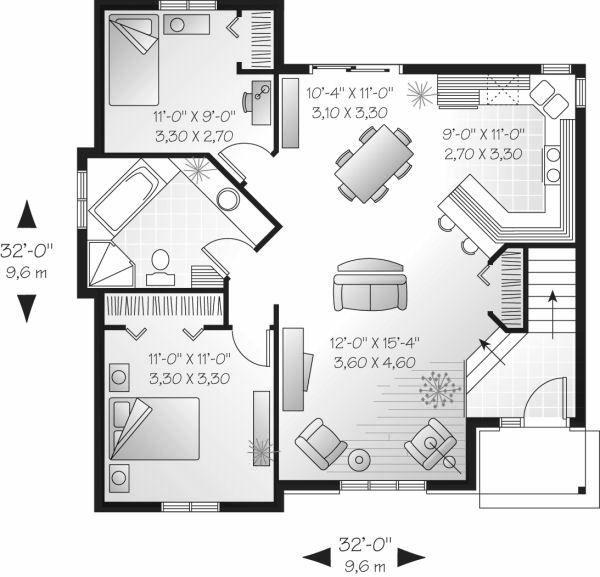 House Plan Design - Cottage Floor Plan - Main Floor Plan #23-706