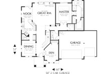 European Floor Plan - Main Floor Plan Plan #48-610