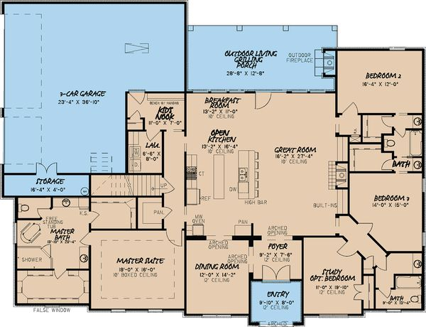 European Floor Plan - Main Floor Plan Plan #923-18
