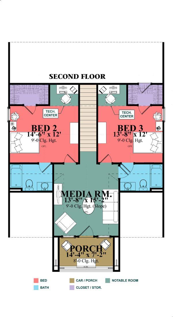 House Design - Craftsman Floor Plan - Other Floor Plan #63-380