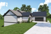 Craftsman Style House Plan - 3 Beds 2.5 Baths 2964 Sq/Ft Plan #1070-128 Exterior - Other Elevation