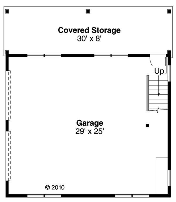 Craftsman Floor Plan - Main Floor Plan Plan #124-891