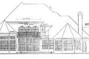 European Style House Plan - 5 Beds 4.5 Baths 4176 Sq/Ft Plan #52-119 Exterior - Rear Elevation