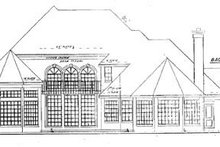 European Exterior - Rear Elevation Plan #52-119