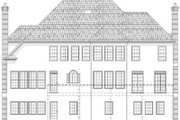 European Style House Plan - 4 Beds 4 Baths 3324 Sq/Ft Plan #119-202 Exterior - Rear Elevation