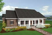 Cottage Style House Plan - 3 Beds 2 Baths 2214 Sq/Ft Plan #44-109 Exterior - Other Elevation