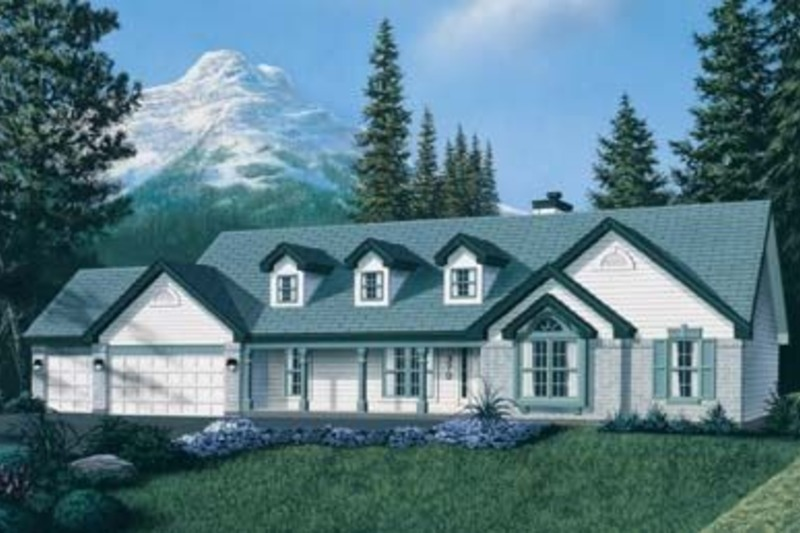 Country Exterior - Front Elevation Plan #57-131 - Houseplans.com