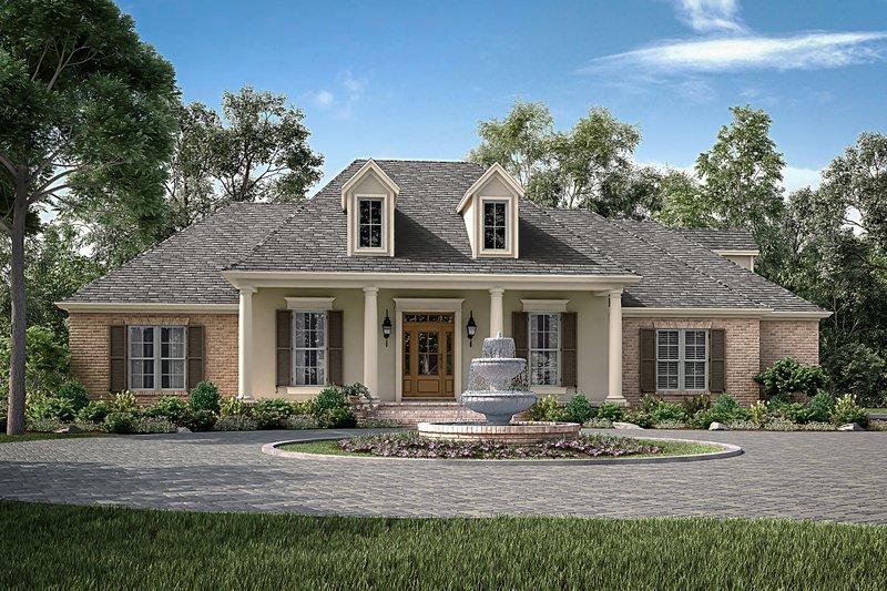 Dream House Plan - European Exterior - Front Elevation Plan #430-153