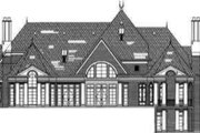 European Style House Plan - 5 Beds 6.5 Baths 6712 Sq/Ft Plan #119-167 Exterior - Rear Elevation