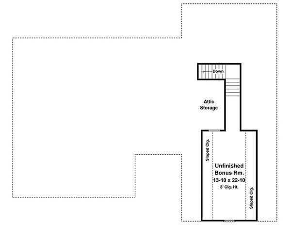 Home Plan - European house plan Country second story floor plan