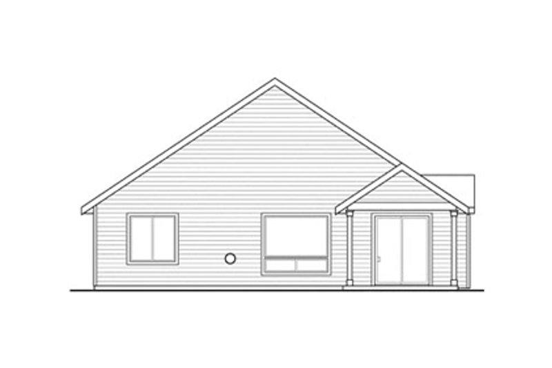 Craftsman Exterior - Rear Elevation Plan #124-866 - Houseplans.com