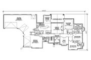 Colonial Style House Plan - 5 Beds 4 Baths 2878 Sq/Ft Plan #5-320
