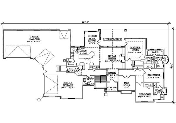 Colonial Floor Plan - Main Floor Plan Plan #5-320